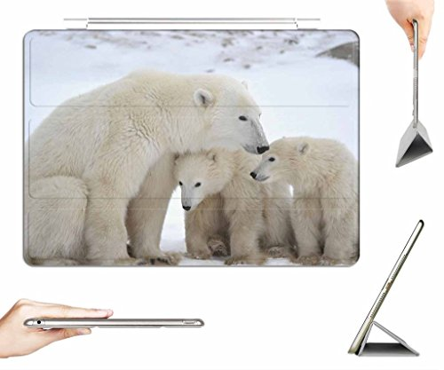 irocket-ipad-pro-129-case-transparent-back-cover-polar-bear-and-cubs-auto-wake-sleep-function