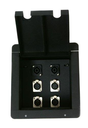 Elite Core Recessed Metal Floor Box 4 XLR - 2 Speakon