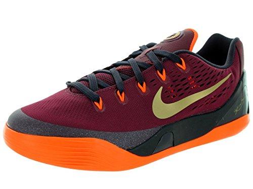 Nike Kids Kobe IX (GS) Deep Garnet/Metallic Gold Basketball Shoe 6.5 Kids US (Kobe Shoes Kids compare prices)