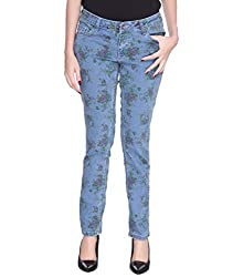 Pepperika Printed Women's Blue Jeans