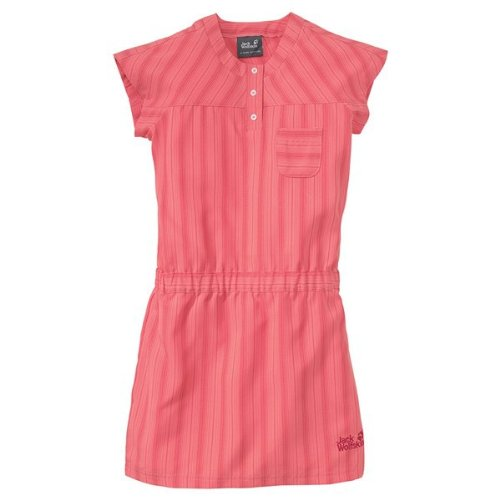 Jack Wolfskin GIRLS AIRY SUMMER DRESS grapefruit stripes