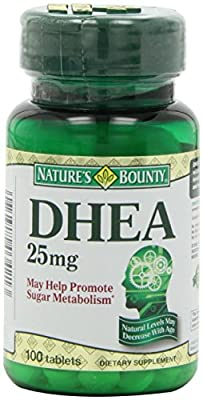 Nature's Bounty DHEA 25mg, 100 Tablets (Pack of 4) , Bounty -fy
