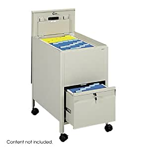Safco Products 5364PT Locking Mobile Tub File with Drawer, Letter Size, Putty