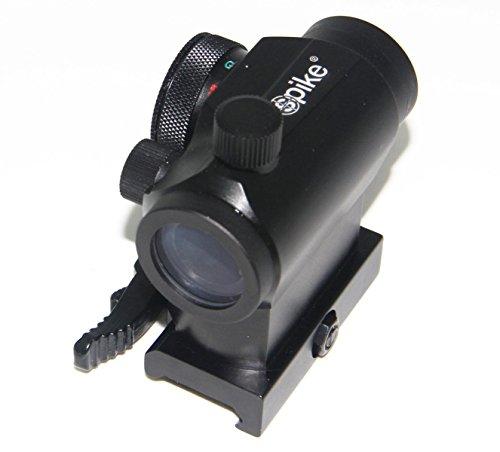 tactique Reflex Rouge Vert Dot Sight Portée avec double Haute/faible profil Rail Supports à dégagement rapide pour la chasse