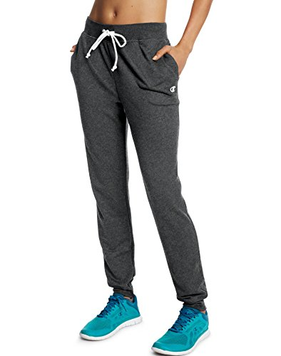 Champion Women's French Terry Jogger, Granite Heather, XL
