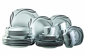 Domestic 920463 assiettes service 30 pieces oslo amazon for Vaisselle de table pas cher