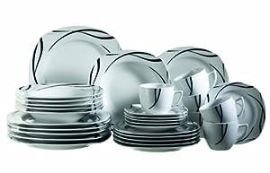 Domestic 920463 assiettes service 30 pieces oslo cuisine ma - Services vaisselle pas cher ...