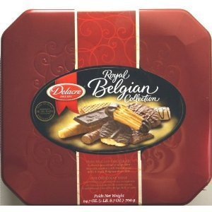Delacre Prestige Elegant Gourmet Belgian Cookie and Biscuit Assortment 45.9 Ounce Gift Tin