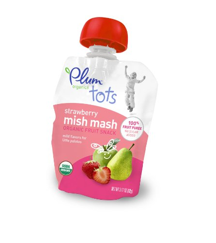 Plum Organics Tots Mish Mash-Strawberry, 3.17-Ounce Pouches 