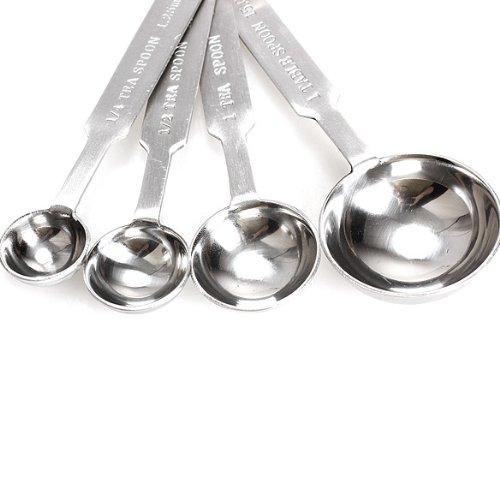 Tenflyer 1 set pour lot de 4 cuill res mesurer en acier for 1 cuillere a table en ml