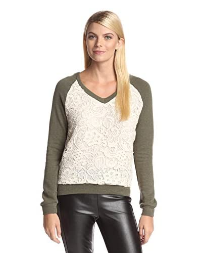 Dex Women's Lace Front Sweatshirt