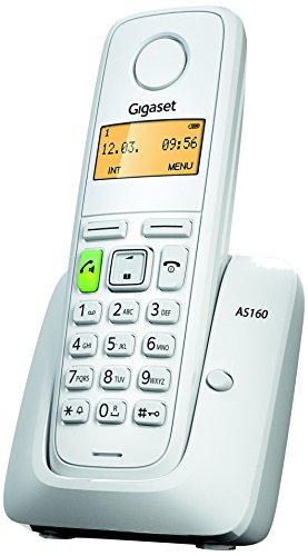 Gigaset AS160 Telefono Cordless, Bianco