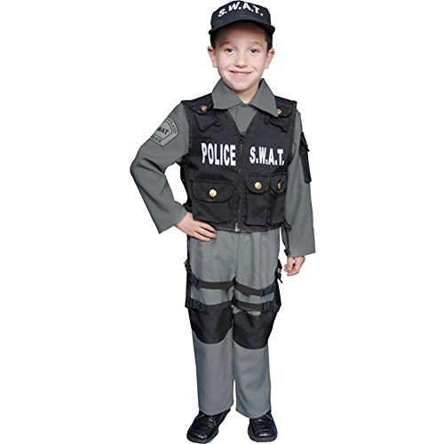 Child's SWAT Team Police Halloween Costume (Size: Small 4-6)