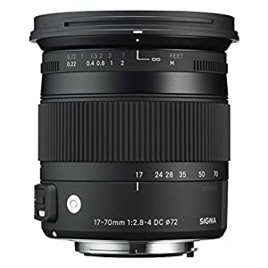 Sigma 884955 Objectif 17-70 mm F2,8-4 DC Macro OS HSM Contemporary pour Nikon