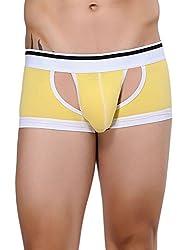 Xuba Men's Cotton Trunk (XB1411206011_Yellow_S)