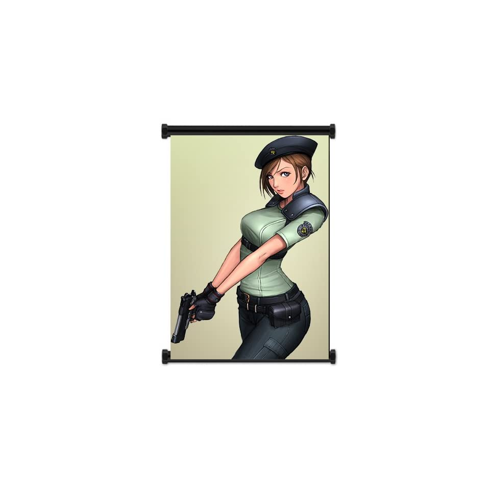 Resident Evil Game Jill Valentine Fabric Wall Scroll Poster (16 x 24) Inches