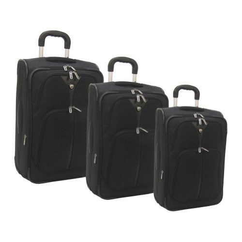 American Airlines by Olympia Summerlin 5-Piece Travel Luggage Set, Black, One Size