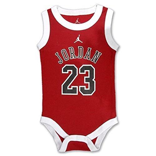 Jordan Baby Bodysuit 3Pc Jersey Set+3.5Mm Anti Dust Cellphone/Ipad/Mp3 (Red/Bk) front-945462
