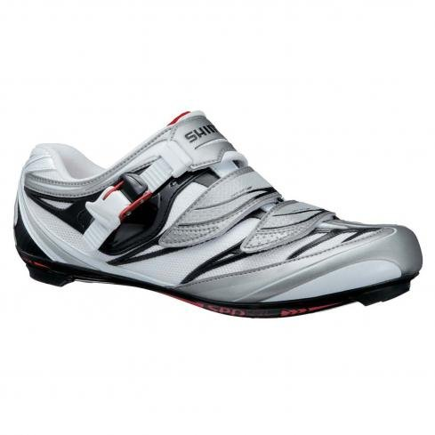 Shimano 2013 Men's Pro Tour Road Cycling Shoes - SH-R133L (White/Black - 43)