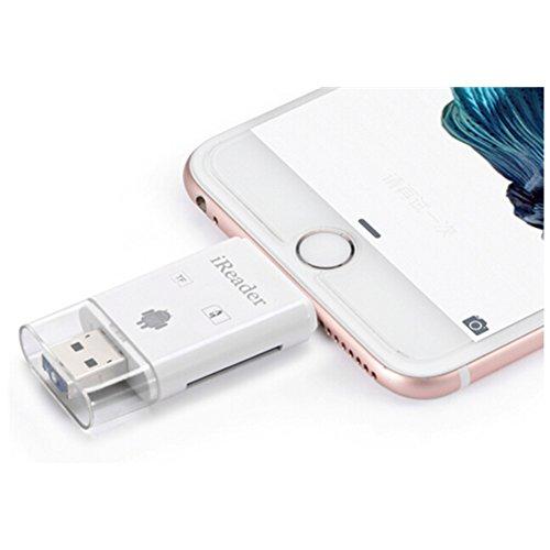 Multifunktions -Flash-Laufwerk-Gerät HD USB 2.0 Micro SD Kartenleser -Adapter mit OTG SDHC Micro SD OTG Kartenleser für iphone5 / 6Plus ipad Luft / Mini / Samsung Tablets Galaxy S6 S7 S5 S4 S3, Galaxy Note 4 3 2, LG G3, Smartphones, Tablets