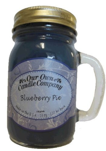 13oz BLUEBERRY PIE Scented Jar Candle (Our Own Candle Company Brand) Made in USA - 100 hr burn time (1)