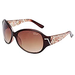 Bling Brown Gradient Oval Sunglasses for Women (BS1006 005)