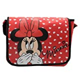 Disney Minnie Mouse Messenger Bag Official White Hearts