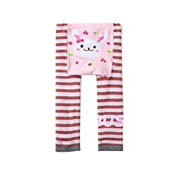 Wrapables Baby & Toddler Leggings, Bunny and Stripes - 12 to 24 Months