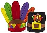 Thanksgiving Pilgrim and Indian Dress Up Headbands