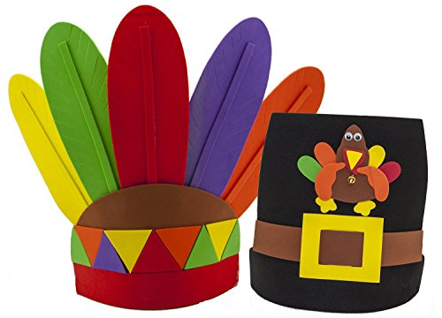 Thanksgiving Pilgrim and Indian Dress Up Headbands