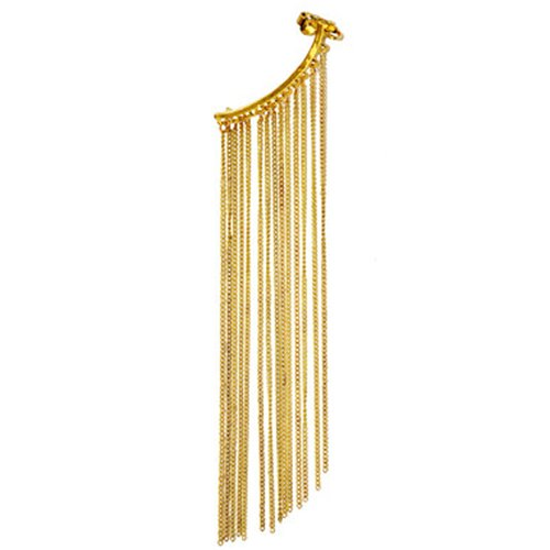 Via Mazzini 'The Rebel' Fringe Ear Cuff-Wrap Earring (Left Ear Only)