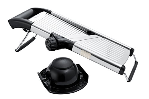 Adjustable Stainless Steel Mandoline Slicer- Vegetable Slicer- Potato Slicer- Vegetable Cutter- Food Slicer- French Fry Cutter- Julienne Cutter Mandolin (Mandolin French Fries compare prices)