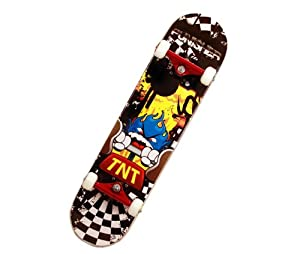 Buy Punisher TNT Complete Skateboard,Yellow, 31-Inch by Punisher Skateboards