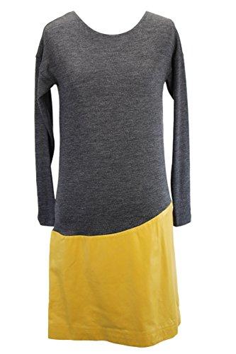 paule-ka-womens-long-sleeve-tunic-dress-size-36-regular-grey-virgin-wool-blend