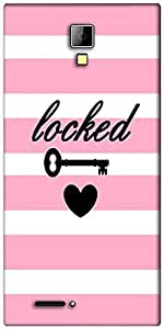 Snoogg Locked hearts Designer Protective Back Case Cover For Micromax Canvas Express A99