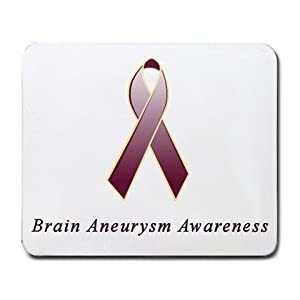 Brain Aneurysm Awareness Ribbon Mouse Pad
