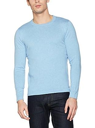 TOM TAILOR Camiseta Manga Larga (Azul Medio)