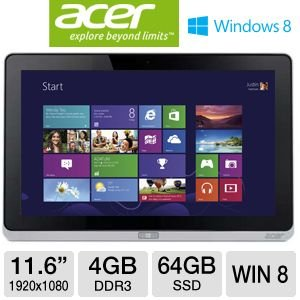 Acer Iconia W700-6607 11.6-Inch 64 GB Tablet (Silver)