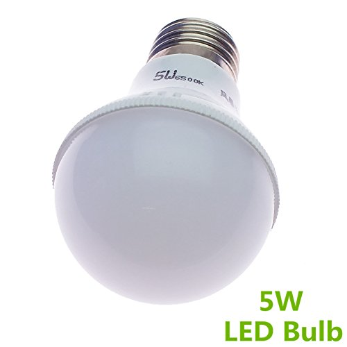 Happiness At Home 2Pcs Pack E27 5W White 210Lm Globe Led Mini Ball Bulbs Energy Saving Lamps Ac100-220V (Pack Of Two )