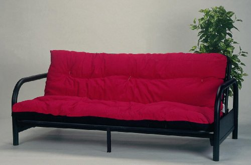 Medium image of black metal futon frame with 9