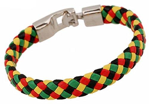 SaySure - Arrive Bangle Bracelet Fashion Colorful PU Leather Bracelets