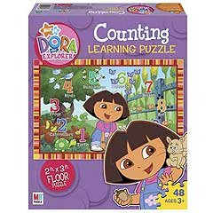 Picture of Hasbro Nick Jr. Dora the Explorer Counting Giant Puzzle (B002EAT2N0) (Floor Puzzles)