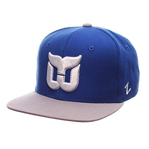 hartford-whalers-youth-pick-off-adjustable-snapback-cap-nhl-zephyr-kids-flat-bill-baseball-hat-by-ze