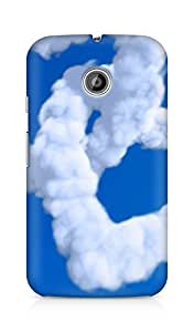 AMEZ designer printed 3d premium high quality back case cover for Motorola Moto E (cloud heart)
