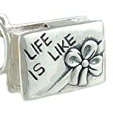 Box of Chocolates 925 Sterling Silver Traditional Charm Opens to Candy