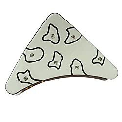 Designer Kart Women's Hair Clip (DK1540HC11W_White_Free Size)