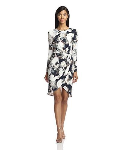 A.B.S. by Allen Schwartz Women's Long Sleeve Printed Dress