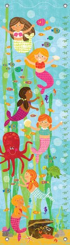 "Oopsy Daisy Growth Chart, Mermaid Mingle and Play, 12"" x 42"""