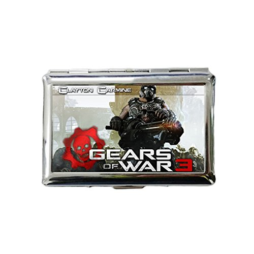 Custom Gears Of War 3 Clayton Carmine Gun Men Women Thin Slim Silver Polish Wiredrawing Cigarette Case Box from Arhowk (Clayton Cigarette compare prices)