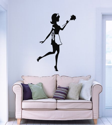 Wall Stickers Vinyl Decal Housekeeper Cleaning